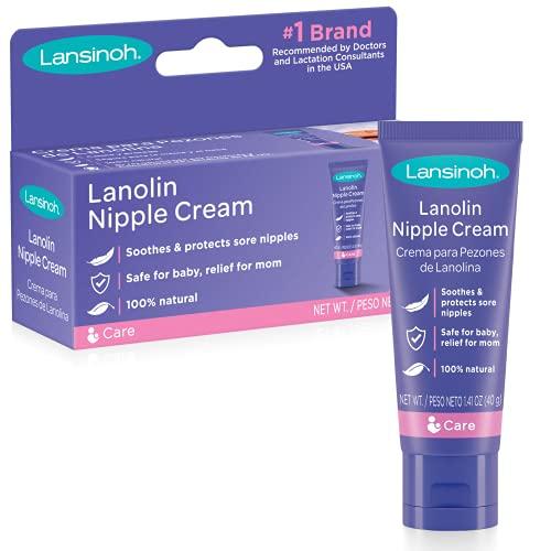 Lansinoh Lanolin Nipple Cream for Breastfeeding, 1.41 Ounce Full Size Tube, Soothing...