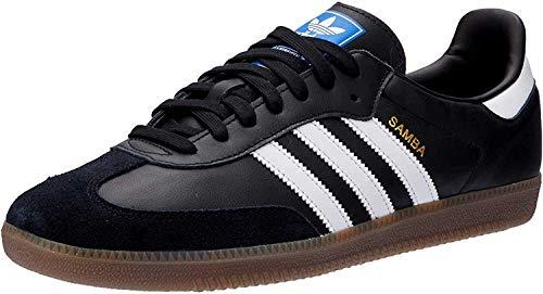 Adidas Samba OG, Zapatillas de Gimnasia para Hombre, Negro (Core Black/Footwear White/Gum 0), 41 1/3 EU