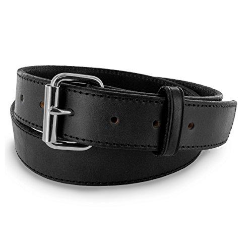 Hanks Stitch Gunner Belts - 1.5' Best Vaue in A Concealed Carry Belt - USA Made 13OZ Leather - 100 Year Warranty - BLK - 32