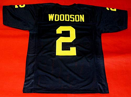 CHARLES WOODSON BLUE MICHIGAN CUSTOM STITCHED NEW FOOTBALL JERSEY MEN'S XL