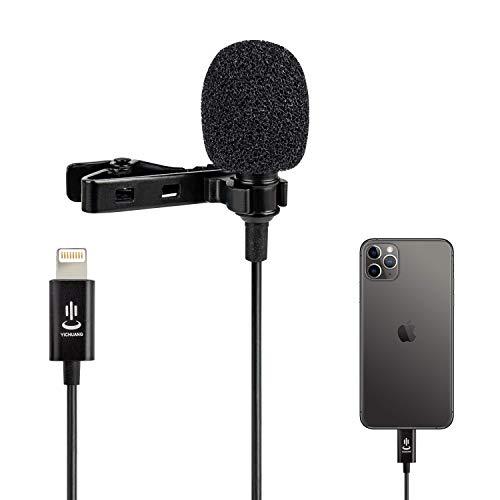 1.5M Lavalier Micrófono,Condensador Omnidireccional Mic para iPhone 6/7 plus/8/8 plus/11/11 Pro/12/X/XS/XR, YouTube Interview Grabación de video