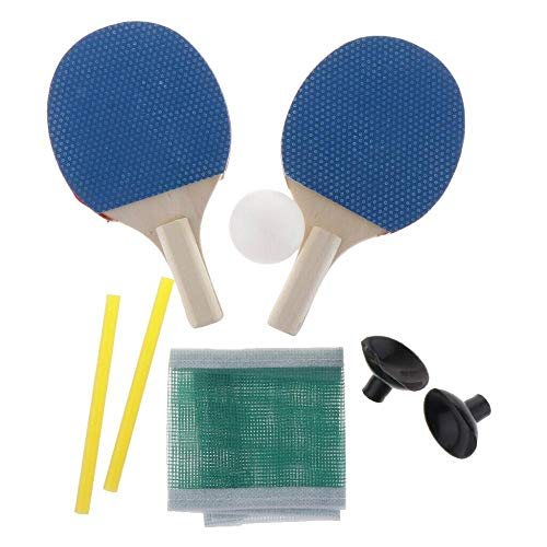 Lowest Prices! Isaa Miilne Portable Mini Table Tennis Racket Ball Net Set Durable Paddle Practicing ...