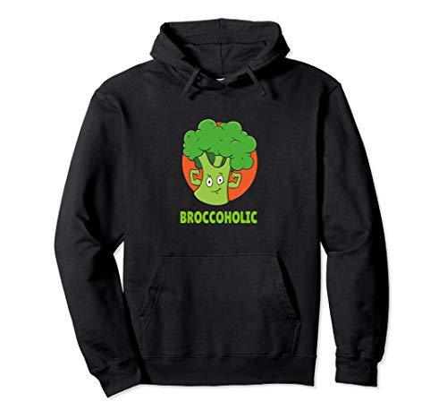 Brokkoli Broccoholic Vegetarier Fitness Veganer Gemüse Pullover Hoodie
