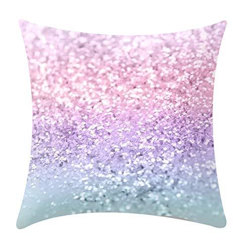 BIGBOBA.Federa Quadrata con Paillettes Glitter Paillettes Cuscino, per casa, Auto, Divano, Decorazione 45cm*45cm I