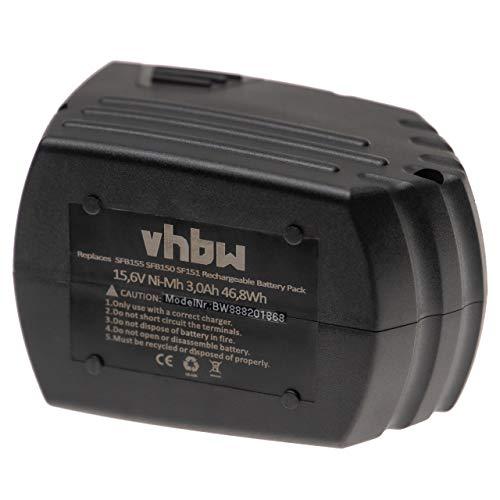 vhbw Batería reemplaza Hilti SFB150, SFB155 para herramientas eléctricas (3000mAh NiMH 15,6V)