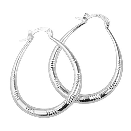 Elegant Fashion Jewelry 925 Silver Plated Stud Dangle Earings Eardrop Big Oval Compatible With Wide Square