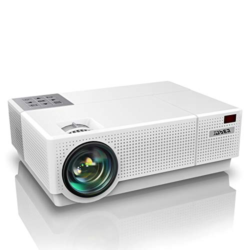 "Proyector, YABER 7200 Lúmenes Proyector Full HD 1920x1080P Nativo Soporta 4K Corrección Trapezoidal 4D Pantalla 300\"" Proyector Cine en Casa Sonido Hi-Fi 100000H Contraste 10000:1 con PS4/PC"