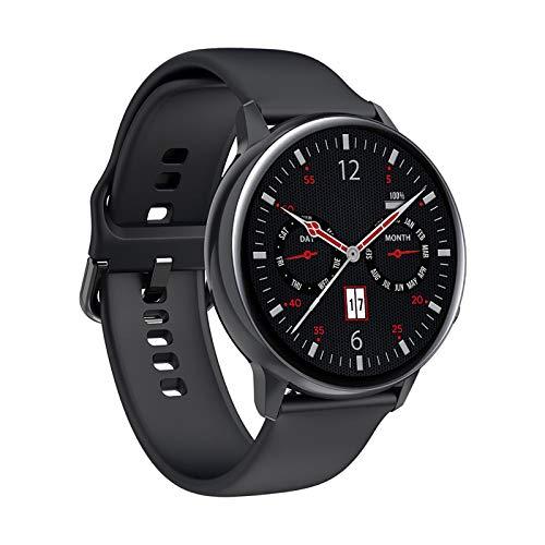 YASB Recordatorio De Salud De Moda Deportiva Reloj Elegante Elegante Androide De La Pulsera De Llamadas Bluetooth Y De 2020 Mujeres De Los Hombres,Negro