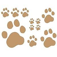 デザイン工房SIGNS 車 ステッカー 肉球 おもしろ 犬 猫 11枚セット 5 モカ (マット)