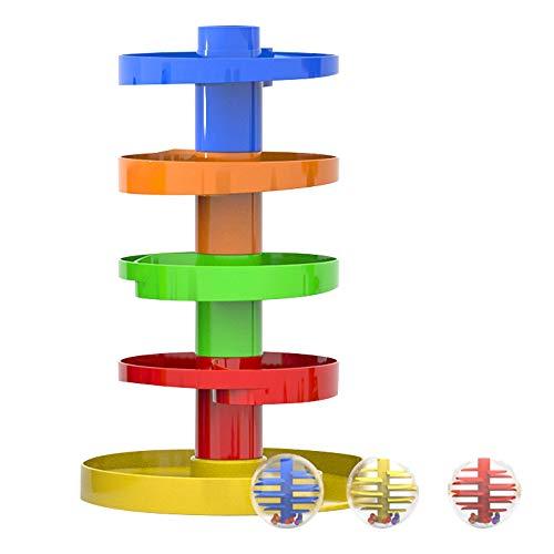 WEofferwhatYOUwant Juguete para niños Ball Drop de una Sola Bola: Juguete en Forma de tobogán en Espiral Apto para niños a Partir de los 9 Meses.