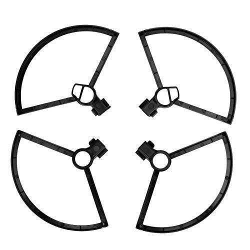 minifinker Dimensioni compatte 4 Pezzi Leggero Drone Blade Protector Disegni a sgancio rapido Anello di Protezione della Lama dell elica per DJI Mini Rc Drone(Black)