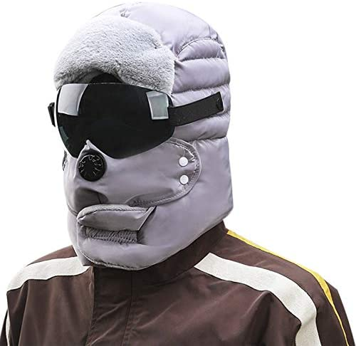 Windproof Full Cover Balaclava with Glasses Mask Men Women Winter Thermal Plush Lining Ski Camping product image