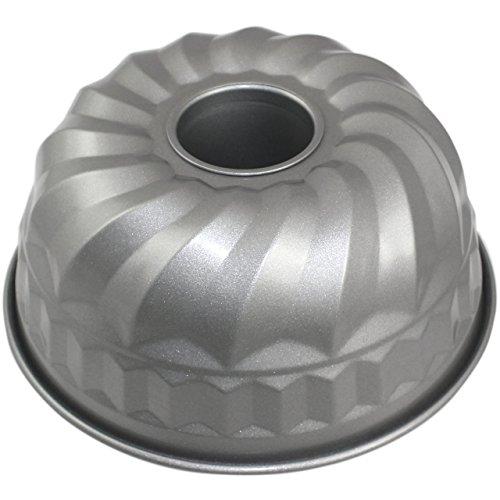 PME CSB112 Moule à Kouglof Anti-adhérent en Acier au Carbone 220 x 100 mm de Profondeur, Silver, 220 mm