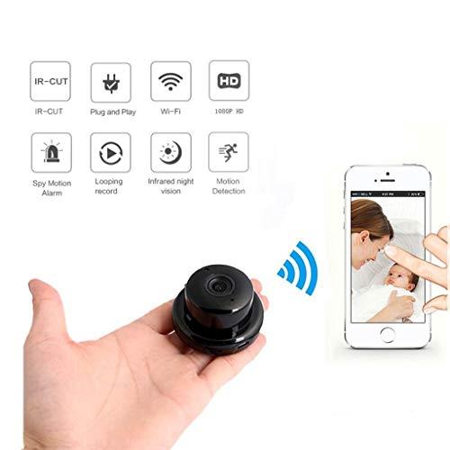 WJS Seguridad para el hogar Mini WiFi 1080P IP Cámara CCTV...