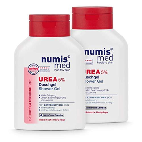 numis med Duschgel mit 5% Urea - Hautberuhigendes Duschgel für extrem trockene, zu Juckreiz neigende Haut - vegane Hautpflege ohne Silikone, Parabene & Mineralöl - Showergel 2er Pack (2x 200 ml)