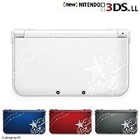 【new Nintendo 3DS LL 】 カバー ケース ハード スターシルエット1白 透明