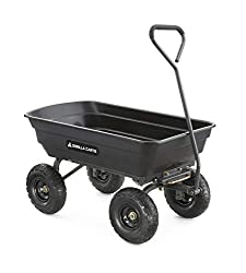 top 10 wagon with big wheels Gorilla Cart GOR4PS Steel frame and 10 inch poly garden cart. Pneumatic tires, 600 lbs …
