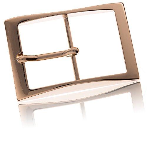 Gürtelschnalle Buckle 40mm Metall Gold Poliert - Buckle Edges - Dornschliesse Für Gürtel Mit 4cm Breite - Goldfarben Poliert