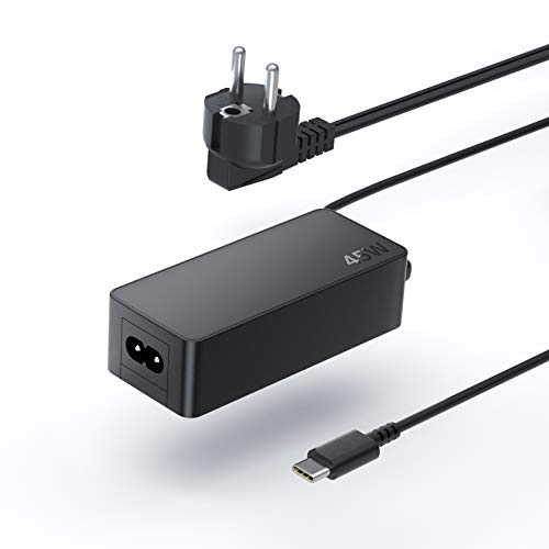 QYD 45W USB Type-C PD Cargador Tipo C Adaptador para Ordenador Portatil Lenovo Chromebook 100E 300E 500E C330 S330 C630 L380 X270 Yoga 370 T470 T470S X1 Carbon TYPE-C PD Batería Notebook Alimentador