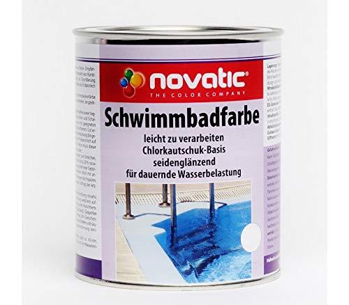 Novatic Schwimmbadfarbe (5 Liter, Weiß)