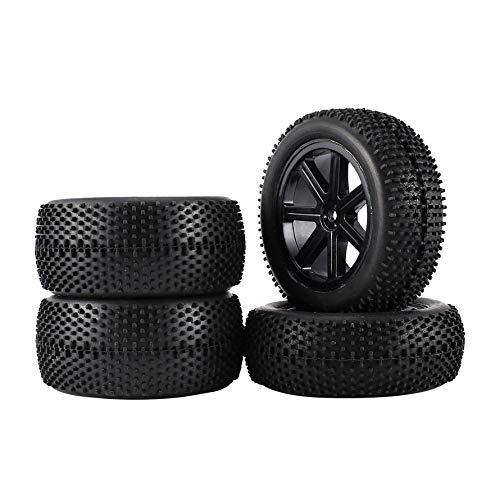 2 par 85mm llanta y neumáticos de goma para 1:10 Off-Road RC Car Buggy Neumáticos de repuesto Accesorios Componente