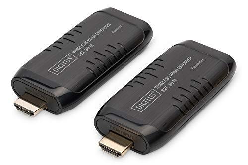 DIGITUS HDMI Extender-Set - Funk-Übertragung bis zu 30 m - Full-HD 60 Hz 1080p - Stromversorgung über HDMI