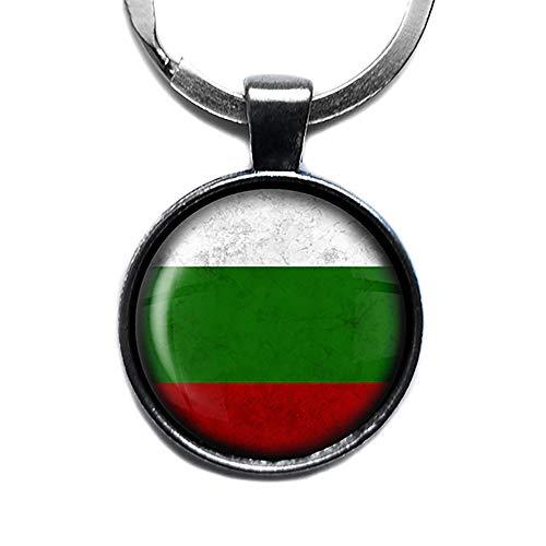 Bulgaria Bulgarian Bulgarien Bulgarisch Flagge Keychain Silber Schlüsselanhänger