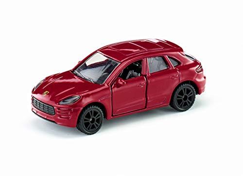 siku 1452, Porsche Macan Turbo, Metall/Kunststoff, Rot, Öffenbare Türen