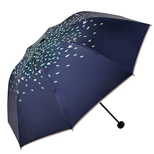 Buy Bargain Gentle Meow Portable Folding Umbrella Sun Protection Umbrella, Navy Blue