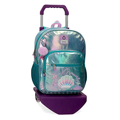 Enso Mochila con Carro Be a Mermaid, color Verde