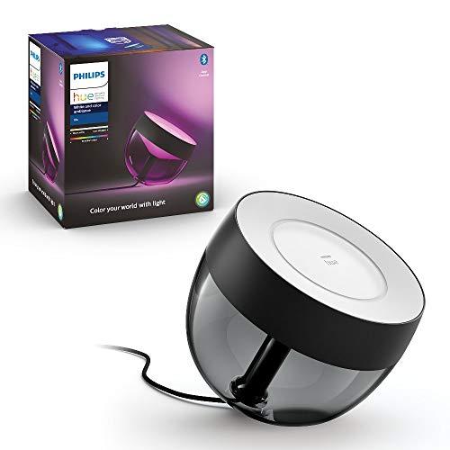 Philips Hue White and Color Ambiance Iris, Lampada da Tavolo Smart, Nera, con Bluetooth, 16 Milioni di Colori