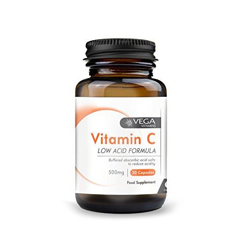Vega 500mg Vitamin C (Calcium Ascorbate) Non-Acidic - Pack of 30 Vegicaps