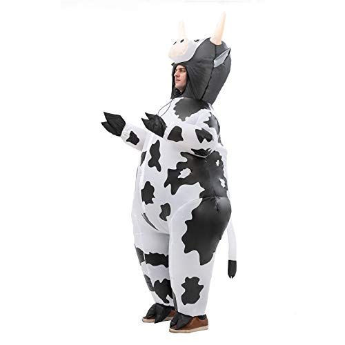 Inflatable Costume Cow Game Adult Funny Blow up Suit Halloween Cosplay Party