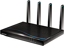 Netgear R7800–100UKS Nighthawk X4S 1733Gaming-Router (800+ Mbps), Quad-Stream-Performance, Gigabit, 11AC, Gaming-Router Fastest (AC5300 Mbps)