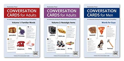 Conversation Cards – Three-Deck Set – Reminiscence Activity for Seniors / Alzheimer's / Dementia / Memory Loss Patients and Caregivers