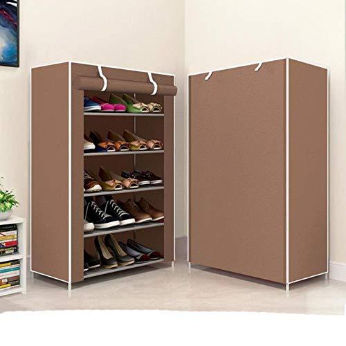 Gabinete de zapatos a prueba de polvo tela no tejida extraíble zapatos organizador armario ahorro de espacio estante de almacenamiento hogar dormitorio DIY zapatero sin cremallera