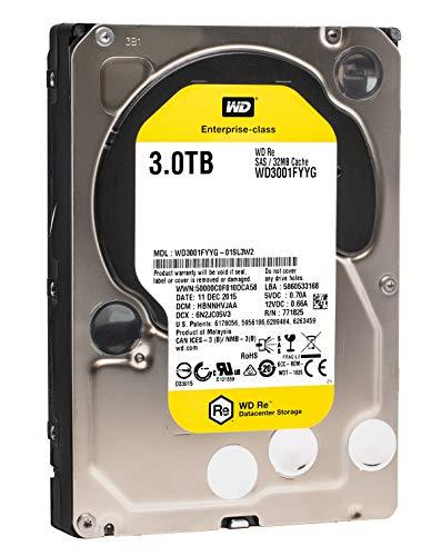 Western Digital HDD Festplattenlaufwerk RE 3TB Festplatte (Serial Attached SCSI (SAS), 3000GB, 8,89cm (8,9cm), 11,2W, 10.9W, 9,2W)