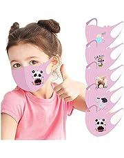 Niño 3D 𝐌à𝐬𝐜a𝐫𝐢𝐥𝐥as prueba polvo Transpirables con Elástico para Los Oídos Lavable Reutilizables Respiratoria algodón al aire libre - Pack 5pcs