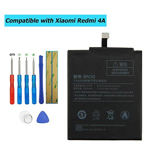 E-YIIVIIL BN30 - Batería de repuesto compatible con Xiaomi Redmi 4A con kit de herramientas