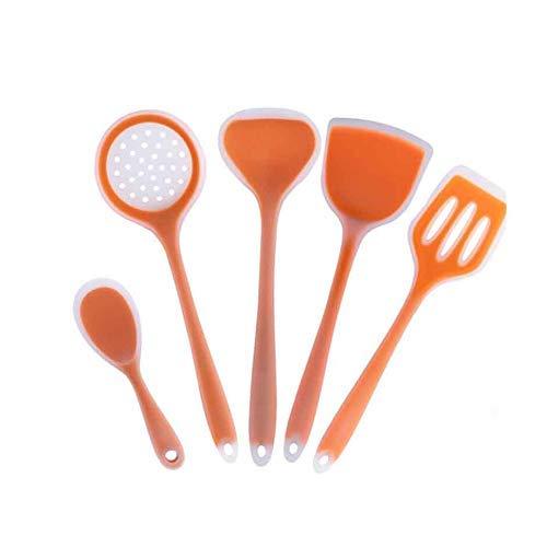 5 unids silicona utensilios de cocina antiadherente herramienta de cocción de cocina espátula ladle pala cuchara sopa de cocina utensilios de utensilios lucar