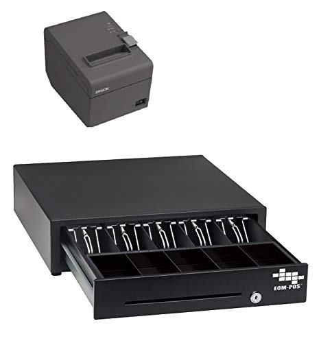 POS Hardware Bundle for Square - Cash Drawer and Thermal Receipt Printer,[Compatible with Square Stand and Square Register]