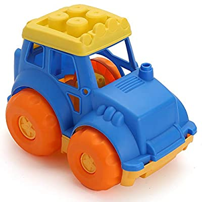 LotFancy 9'' Dump Truck Toy for Kids, Small Plastic Sand Truck, Construction Play Vehicle Toy for Baby Toddlers Outdoor, BPA and Phthalates Free