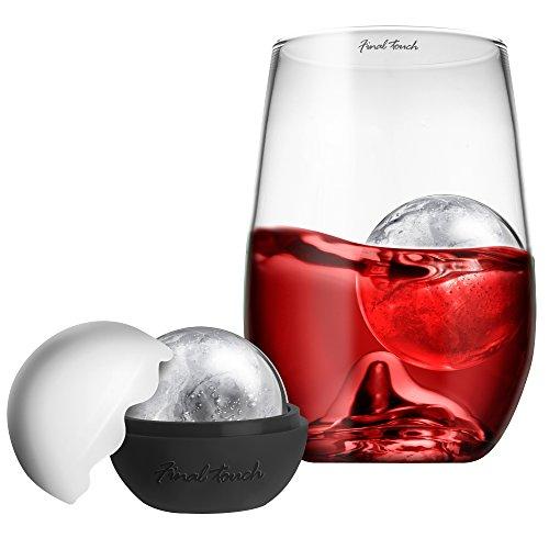 Jeray (Sales) Ltd, Bicchiere con Effetto Roccia sul Fondo e Stampino a Sfera per Ghiaccio