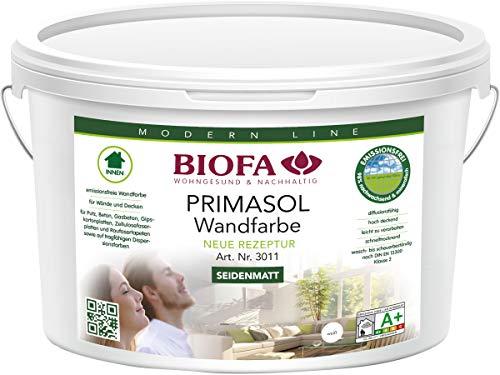 BIOFA Wandfarbe weiß für den Innenbereich, 3011