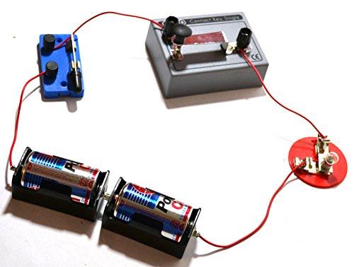 Eisco Labs - Kit de circuitos de código visual Morse para bricolaje, incluye todas las piezas necesarias