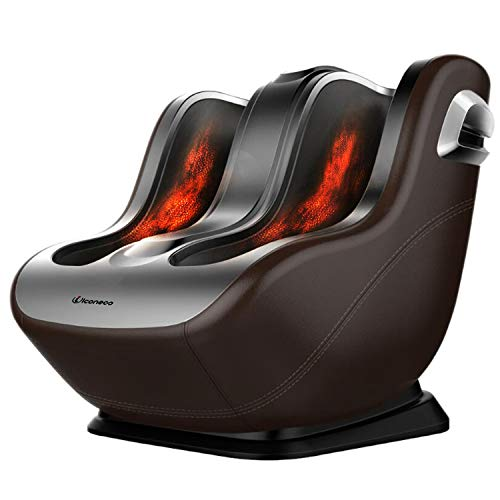Foot Massager Machine, Shiatsu Calf and Foot Massage, Heat Function, Unique Sliding Rolling Combining Kneading Massage with Foot Scrapping