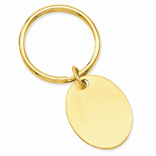 ICE CARATS Gold Plated Kelly Waters Oval Key Band Ring Size Man Money Clip Wallet Fashion Jewellery for Dad Mens Gifts for Him