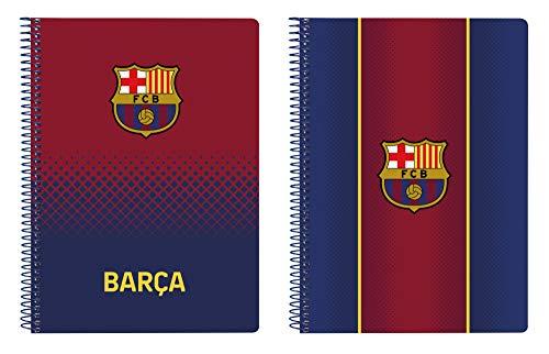 Cuaderno 80 Hojas A5 de F.C. Barcelona 1ª Equipación 20/21, Tapas Duras, 155x220mm