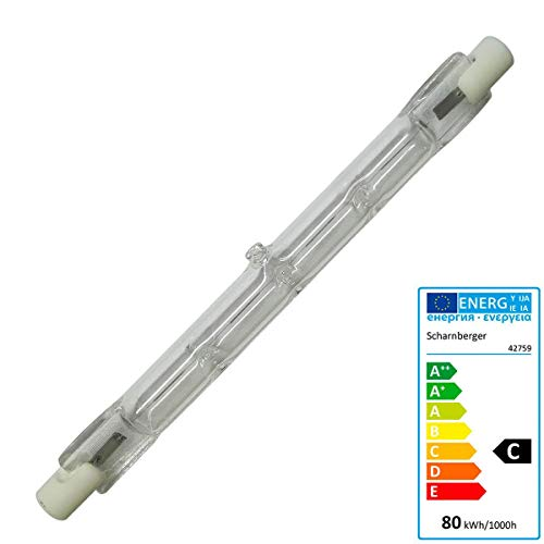 Halogenstab 80 Watt R7s 118mm 230 Volt - Scharnberger