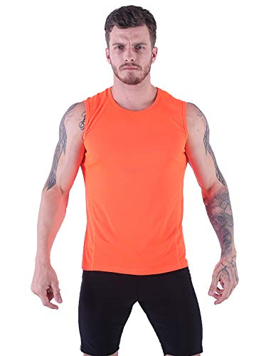 VICROAD-UK Herren Tank Top Schnell Trocknend Sport Ärmelloses Shirt Fitness Gym Training Weste